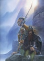 John Howe - Legolas and Gimli at Helm's Deep.jpg
